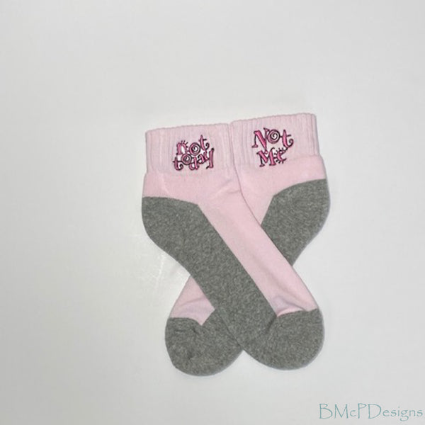 Not Me, Not Today Breast Cancer Awareness Ankle Sock