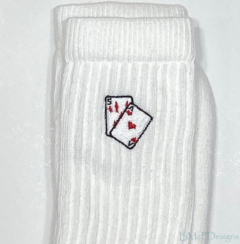 Playing Cards Crew Sock