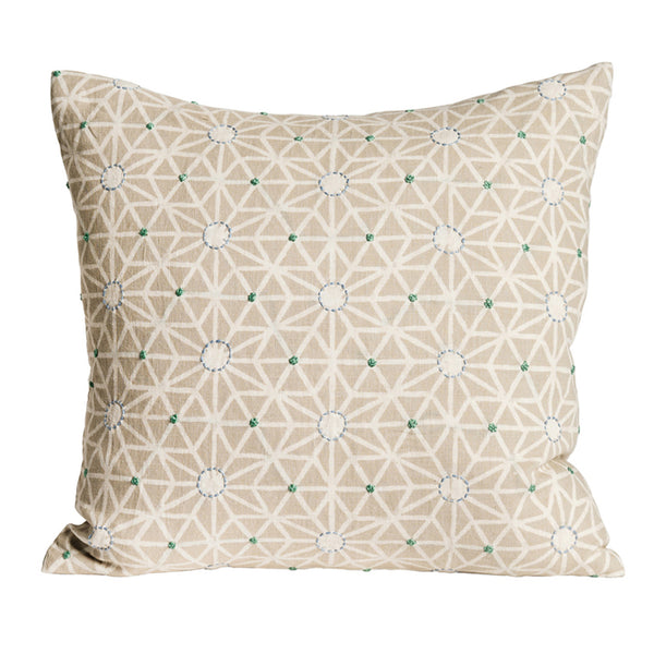 Taraka Natural embroidered cushion cover - Nichola Taylorson