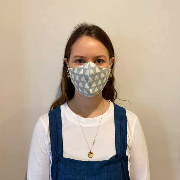 Linen Face Mask - Lavi Slate Blue