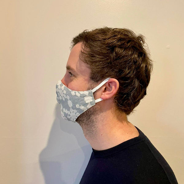 Linen Face Mask - Moksha Slate Blue