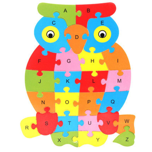 Wooden Alphabet Animal Learning Puzzle Offer