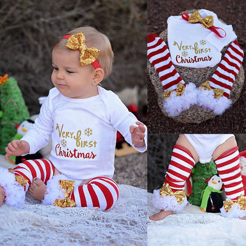 First Christmas 3Pcs Bodysuit