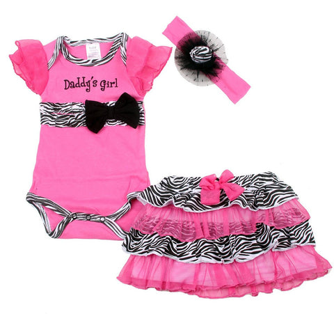 3 Piece Romper Set - Daddy's Girl
