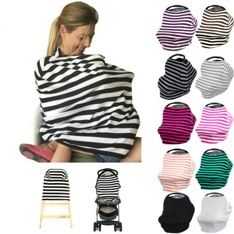 100% Cotton Nursing Cover & Baby Car Seat Cover