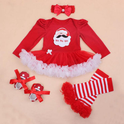 4 Pcs Red Holiday Dress