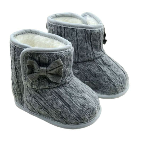 Knit Bowknot Boots