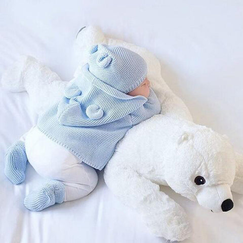 Polar Bear Plush Toy & Pillow