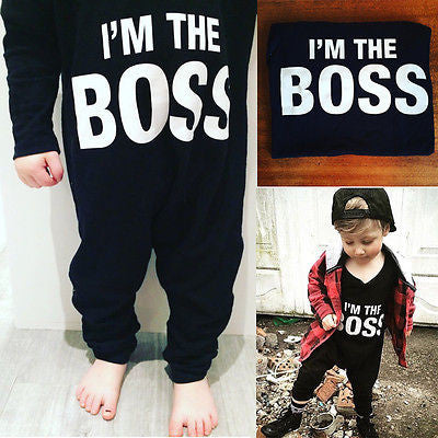 """I'm The Boss"" Onesie"