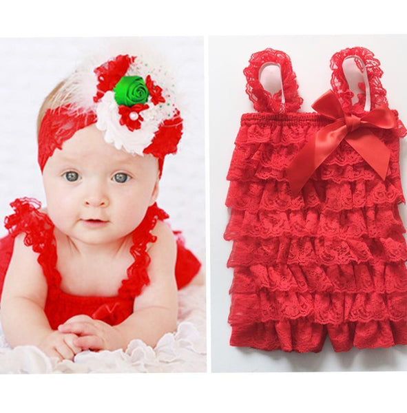 Lace Ruffle Baby Romper