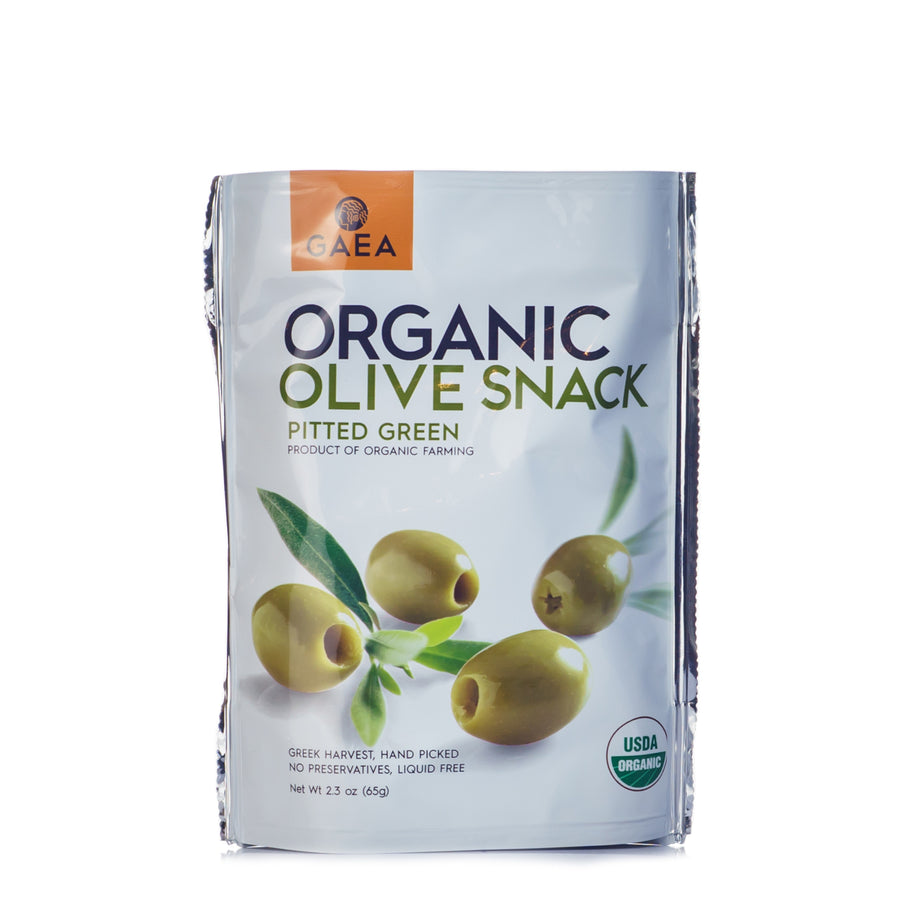 Gaea Organic Snack Pack Green Olives