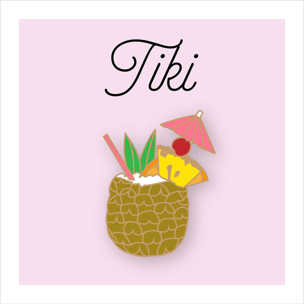 Pineapple Tiki Pin