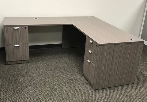 "BOSS 30"" x 66"" Desk Shell, 24"" x 48"" Reversible Return Shell"