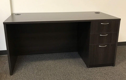 "Hon Foundation 30"" x 60"" Single Pedestal Desk"
