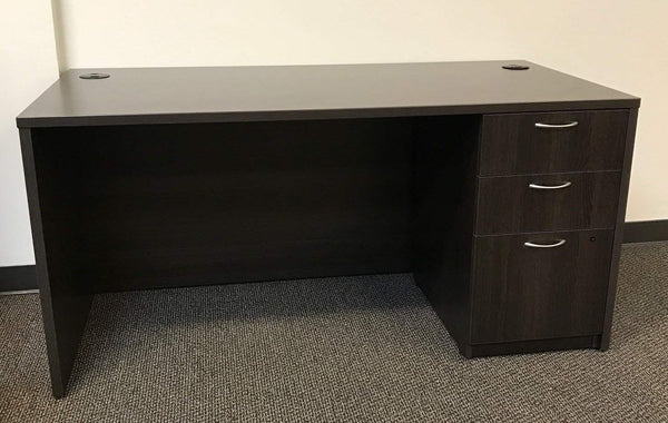 "BOSS 30"" x 60"" Single Pedestal Desk"
