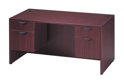 "Basyx 30"" x 60"" Double Pedestal Desk"