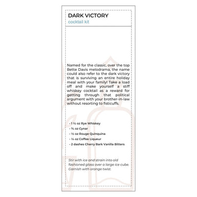 Dark Victory Cocktail Kit