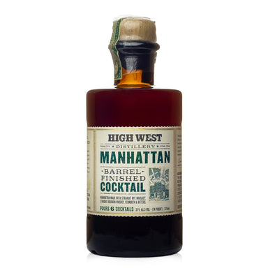 High West Barrel Finished Manhattan Cocktail