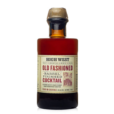High West Barrel Finished Old Fashioned Cocktail