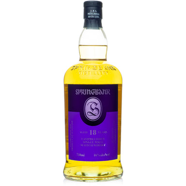 Springbank 18 Year Single Malt Scotch