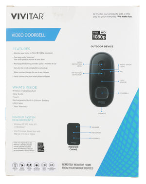 Vivitar Wireless Video Doorbell
