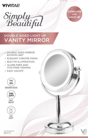 Double Sided Light Up Vanity Mirror
