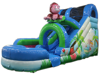 15' Monkey Surf Water Slide'