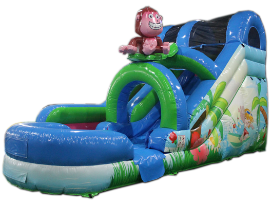 15' Monkey Surf Water Slide