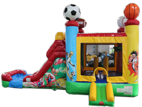 28' All Star Sport Bounce House Wet or Dry Water Slide Combo