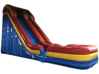 21' Red Yellow Blue Marble Water Slide