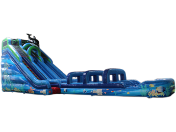 22'H Coral Crush Water Slide & Slip N Slide