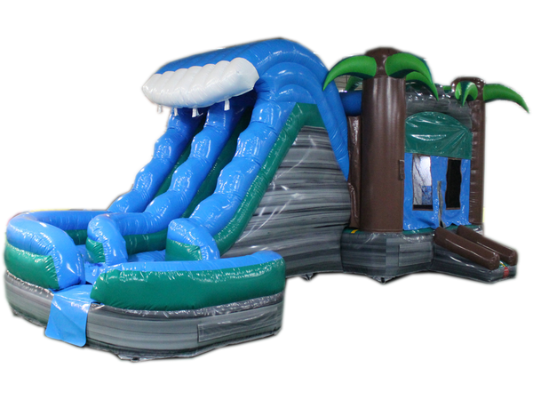 29' Tropical Helix Bounce House Wet or Dry Water Slide Combo