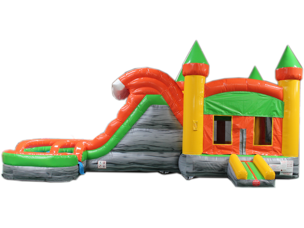 29 Orange Amp Green Helix Bounce House Wet Or Dry Water