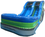 12' Blue Green Grey Marble Water Slide