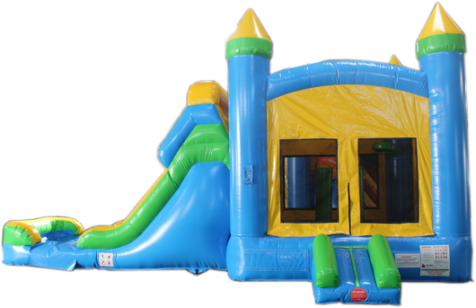 28 Blue Amp Yellow Bounce House Wet Or Dry Water Slide