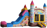 28' Candy Clown Bounce House Wet or Dry Water Slide Combo