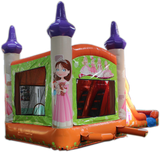 28' Princess Bounce House Wet or Dry Water Slide Combo