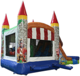 28' Pirate Bounce House Wet or Dry Water Slide Combo