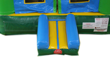 29' Green, Blue & Yellow Helix Bounce House Wet or Dry Water Slide Combo