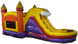 29' Red & Purple Marble Helix Bounce House Wet or Dry Water Slide Combo