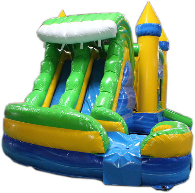 29 Blue Amp Green Helix Bounce House Wet Or Dry Water Slide