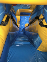 15' Blue Yellow Grey Water Slide