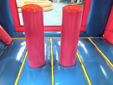 28' Pink & Blue Bounce House Wet or Dry Water Slide Combo