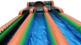 25'H Green & Orange Mega Water Slide & Slip N Slide