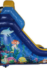 28' Ocean Bounce House Wet or Dry  Water Slide Combo