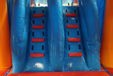 29' Red, Blue & Yellow Marble Helix Bounce House Wet or Dry Water Slide Combo