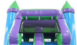 Bounce House Startup Package Square, Green N Purple Water Slide Combo #19 Commercial Grade
