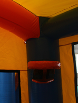28' Blue & Orange Bounce House Wet or Dry Water Slide Combo