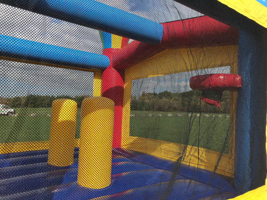 Bounce House Startup Package Square Green N Purple Water