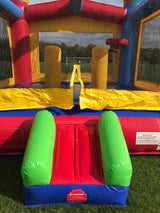 Bounce House Startup Package Square, Red, Yellow, Blue Slide Combo #33 Commercial Grade